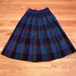 Vintage Miss Pendleton Women 12 Purple Plaid Skirt